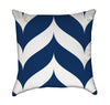 Larger Dripping Navy Blue and White Chevron Stripes