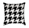 Chunky Houndsooth Pattern Throw Pillow