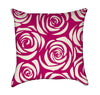 Magenta Rose Bouquet Throw Pillow