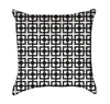 Black and White Square Links Throw Pillow
