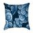 Watercolor Wave Blue Nautical Throw Pillow
