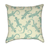 Lizzard Party Abstract Reptile Throw Pillow