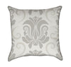 Large Neutral Beige and Tan Damask Throw Pillow