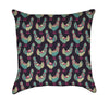 Invasion of the Teal Chicken Army Throw Pillow