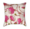 Pink Magnolia Branches Garden Flower Throw Pillow