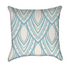 Sharp and Fancy Slate Blue Fish Scale Modern Throw Pillow