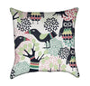 Forest Birds Cartoon Toucan and Owl Throw Pillow