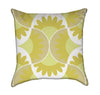 Yello Retro Scalop Shells Modern Abstract Throw Pillow