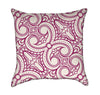 Magenta Ornamental Lattice on Beige Throw Pillow