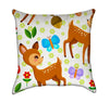Little Bambi Frolicking With Butterflies Throw Pillow