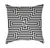 Abstract Modern Black and White Optical Illustion Throw Pillow