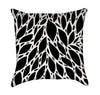Abstract Black and White Harvest Leaves Throw Pillow