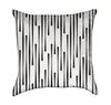 Abstract Dripping Stripes Black and White Throw Pillow
