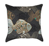 Fancy Moss Evergreen Fish Throw Pillow