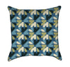 Green and Blue Geometric Pattern Throw Pillow