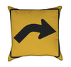 Slight Right Traffic Sign Throw Pillow