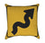 Winding Road to the Left Yellow Traffic Throw Pillow