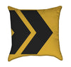 Caurtion Right Lines Traffic Sign Yellow Throw Pillow