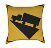 Steep Incline Yellow Throw Pillow