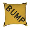 Bump Yellow Traffic Sign Throw Pillow