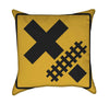 Train Crossing Plaform Yellow Throw Pillow