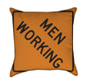 Men Working Road Work Orange Construction Throw Pillow