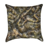 Reptilian Dragon Skin Texture Dungeon Throw Pillow