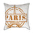 Orchre Paris France Travel Stamp Throw Pillow