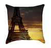 Eiffel Tower Paris Sunset Throw Pillow