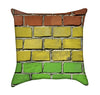 Rasta Brick Flag One Love Throw Pillow