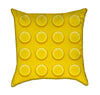 Yellow Childrens Construction Blocks Throw Pillow