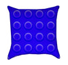 Blue Childrens Construction Blocks Throw Pillow