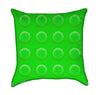 Green Childrens Construction Blocks Throw Pillow