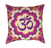 Hot Pink, Lavender and Crème Zen Aum Throw Pillow - Front