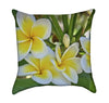Hawaiian Plumeria Garden Flower Throw Pillow