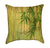 Zen Lotus Bamboo Leaves Throw Pillow