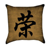 Honor Chinese Calligraphy Grunge Throw Pillow