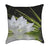 White Zen Lotus Reflection Spa Throw Pillow