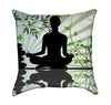 Moss Green and Tourquoise Yoga Zen Abstract Throw Pillow