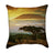 Safari Sunset with Misty Clouds Over Mount Kilimanjaro African Throw Pillow