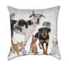 Group of Pets Veterinary Friends Animal Throw Pillow