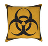 Orange Radiation Chemical Symbol Sign Throw Pillw