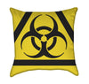 Orange Nuclear Radioactive Chemical Symbol Sign Throw Pillow