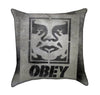 Obey Graffiti Street Art Throw Pillow