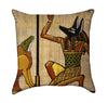 Anubis Egyptian Papyrus Throw Pillow