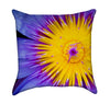 Purple Lotus Flower Throw Pillow