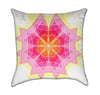 Pink and Yellow Mandala Throw Pillow
