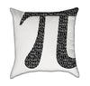 Black and White Pi Nerdy Mathmatical Throw Pillow