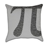 Grey Pi Nerdy Mathmatical Throw Pillow