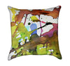 Watercolor Paint Splatter Artistic Throw Pillow